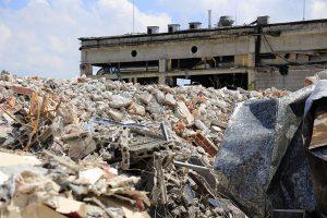 Demolition works